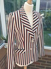 Tommy Hilfiger Tailored Stripped  Jacket Size 8 , Immaculate