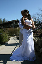 Mermaid Ivory Bridal Gown Strapless Wedding Dress Size 10