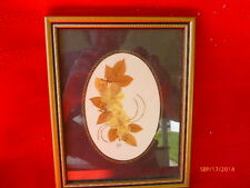 Pressed English Flowers Village Green Country Crafts England Framed Art Work
