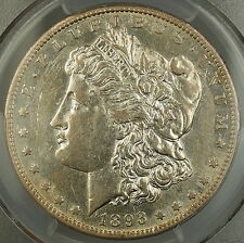 1893-S Morgan Silver Dollar $1 PCGS XF-45 (Better Coin AU) *Key Date* DGH