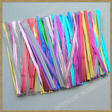 """100pcs 4""""x6"""" clear cello bag for gift candy + twist tie"""