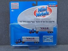 N Yale White Super Power Tractor & 32' Trailer Set - Classic Metal Works #51136