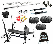 GB 30 Kg with 7 in 1  Bench weight lifting home gym fitness