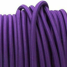 PURPLE vintage style textile fabric electrical cord cloth cool cable light