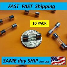 10x ---- Fast Blow 5x20 glass fuse --- 120v 220v 240v 125v ---- 5A AMP - NEW