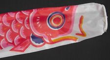 Koi Nobori Carp Wind Sock Red Koinobori Fish Kite Flag Hanging Wall Decor