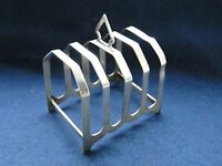 ART DECO TOAST RACK/ LETTER RACK STERLING SILVER BIRMINGHAM 1935, PURE STYLE
