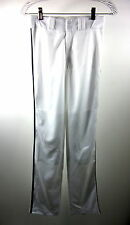 EASTBAY YOUTH LONG OPEN BOTTOM BASEBALL PIPED PANT LARGE WHITE/NAVY BLUE 2263206