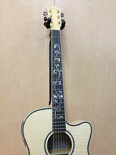 Caraya SDG-837CEQ/N All Flame Maple Jumbo Acoustic Guitar,EQ/Tuner +Free gig bag