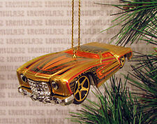 '74 CHEVY MONTE CARLO 1974 GOLD ORANGE CHEVROLET CHRISTMAS ORNAMENT XMAS