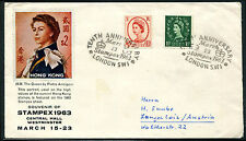 GB Stamex 1963 cover with Hong Kong stamp cachet