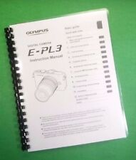 Color Printed Olympus Camera E-PL3 Instruction Manual Guide 127 Pages