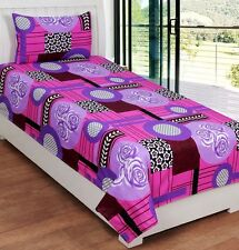 SYK Soft Cotton Single Bed sheet,Bedsheets with 1 Pillow Cover (SYKSB01)