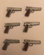 6 Vintage Action man palitoy Glock Pistola de Mano Accesorios Gi Joe