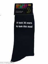 It took 30 years to look this good Printed Mens Black Socks 30th Birthday Gift