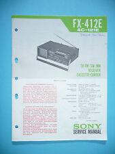 Service-Manual für Sony FX-412E,ORIGINAL
