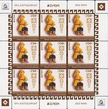 NEW NEWS EUROPA 2015 OLD TOYS NAGORNO KARABAKH ARMENIA 3 SHEETS OF 9 MNH R15520b