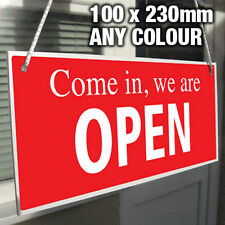 COME IN WE ARE OPEN CLOSED HANGING SIGN, SHOP WINDOW/DOOR – ANY COLOUR