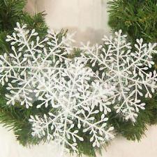 30x Addobbi Forma Fiocco di Neve Natalizie Decorazione Feste Party Albero Natale