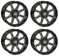 4 ATV/UTV Wheels Set 14in STI HD4 Gloss Black 4/156 4+3 550