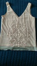 Pink embellished top by Etam size 10