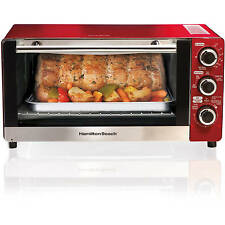 Hamilton Beach 6-Slice Convection Toaster/Broiler Oven, Candy Apple Red