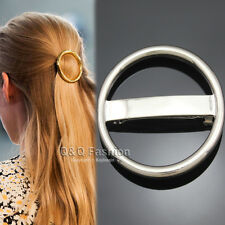 Catwalk Chic Silver Bold Hoop Bar French Updo Hair Pin Clip Dress Snap Barrette