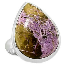 Variscite In Purpurite 925 Sterling Silver Ring Jewelry s.7 VIPR93