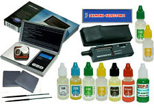 Diamond Tester with 1000 gr Scale & Complete Gold Test Kit - Test Precious Metal