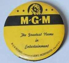 Vtg MGM Records Loews Inc Round Advertising Record Duster Cleaner FREE SHIP USA