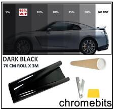 CAR VAN BUS WINDOW TINT FILM TINTING DARK BLACK SMOKE 15% 76cm x 3M  30X118""