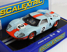 Scalextric C3325 Ford GT40 Daytona 1969 Gulf #2 Slot Car 1/32 for Carrera