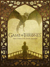 Game Of Thrones: Complete Fifth Season 5 (DVD 5-Disc 2016) New Free Shipping