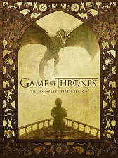 Game of Thrones: The Complete Fifth Season (DVD, 2016, 5-Disc Set) NEW