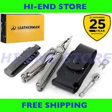 NEW- Leatherman CHARGE TTi Multi-Tool + Leather Sheath + Bit Kit + Pocket Clip