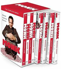 Monk:The Complete Series(DVD, 2016, 32-Disc Set) Seasons 1-8
