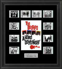 THE BEATLES A HARD DAYS NIGHT MOUNTED FRAMED 35MM  FILM CELL MEMORABILIA