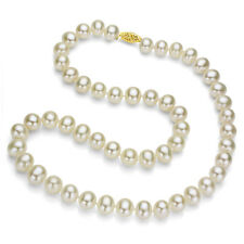 14k Yellow Gold 6.5-7mm White Freshwater Cultured Pearl High Luster Necklace 18""