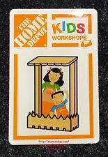 LMH PINBACK Pin PICKET FENCE PICTURE FRAME Home Depot Kids Workshop Photo Holder