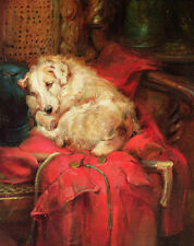 Huge Oil painting sleeping dog on table with Whips horsewhip free shipping cost