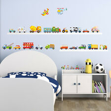 Decowall, DW-1405, The Transports Wall Stickers Children Home Room Tattoo Decals