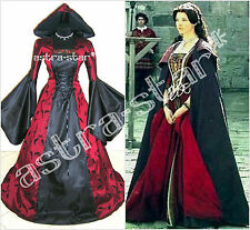 MEDIEVAL DRESS 20-22-24 XL-2XL-3XL GOTHIC WITCH VAMPIRE COSTUME LARP TUDOR WICCA