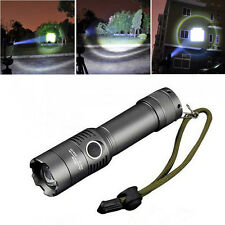 2000LM CREE XM-L T6 3-mode Led Tactical Zoomable Flash Camping Hunting Spotlight