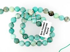 Chrysoprase faceted round beads 8mm