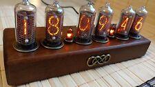 Nixie Clock Vintage style on IN-8-2 nixies made in USSR 70x Wood&Metal Handmade