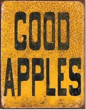 Vintage Replica Tin Metal Sign Good apples produce fruit vegetable for Sale 1600