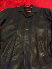 "Ben Sherman size M 46"" chest black leather jacket"
