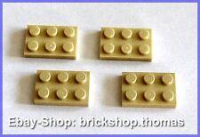 Lego 4 x Platte (2 x 3) - 3021 beige - Tan Plate Plates - NEU / NEW