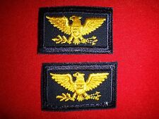 Set Of 2 US Military COLONEL Rank Collar Patches *Unused*