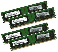 4 x 2 GB 8 GB RAM PC memoria DDR2 667 MHz PC2-5300U f. Intel + bassa densità AMD DIMM